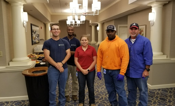 River Landing Team Participates In Meal Packing Event