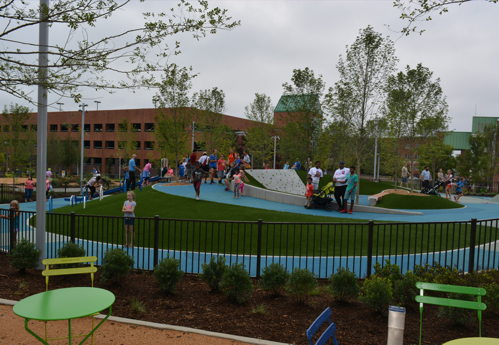 LeBauer Park greensboro construction project