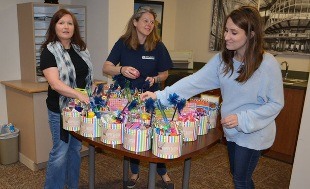 Blum Employees Donate Easter Baskets